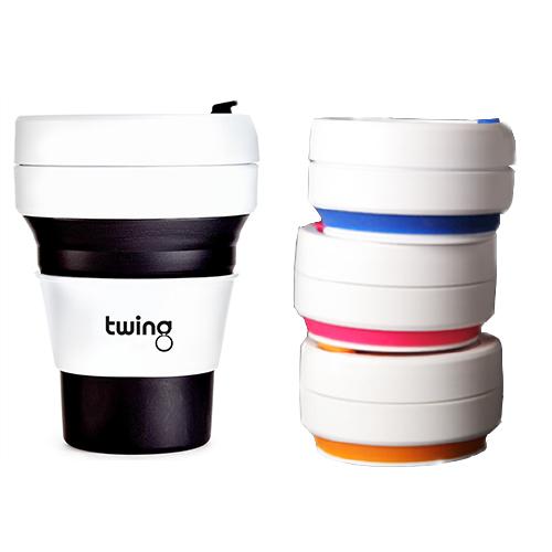 Zusammenklappbarer Kaffeebecher